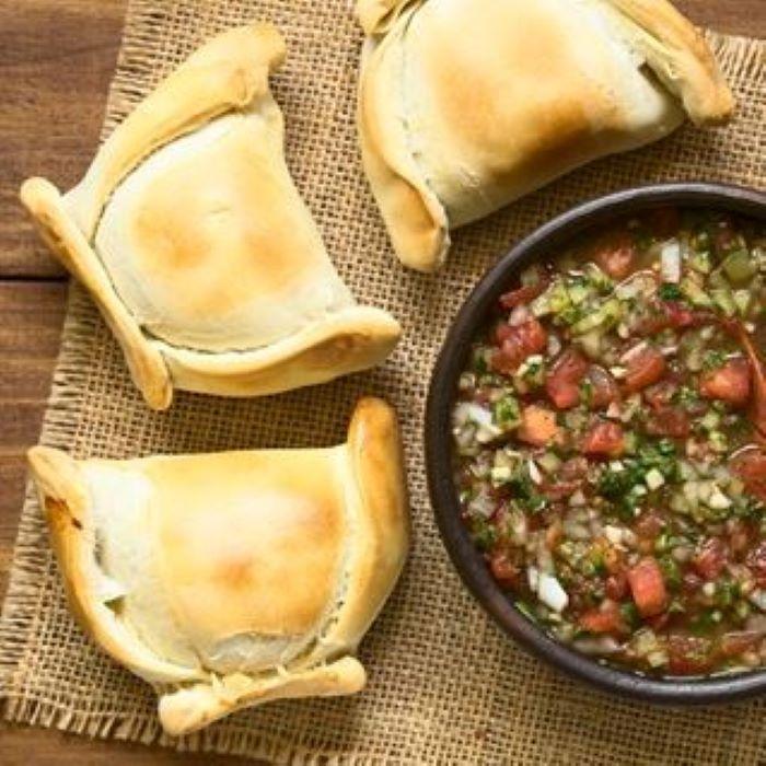 Recette d\'empanadas aux lentilles corail, courgettes et tomates séchées <br>