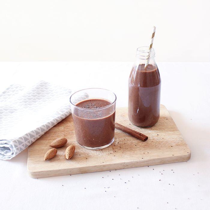 Recette de smoothie chocolat avoines et amandes