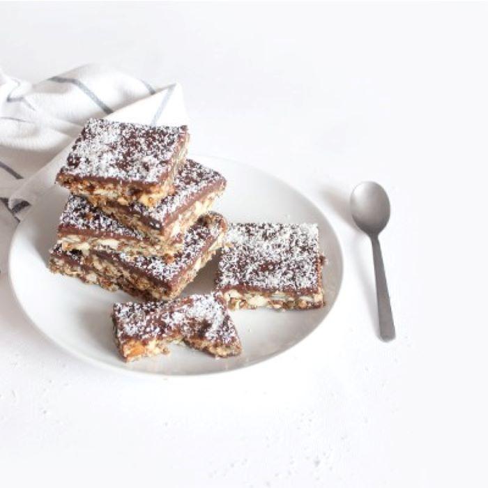 Recette de barres de céréales choco quinoa et graines <br>