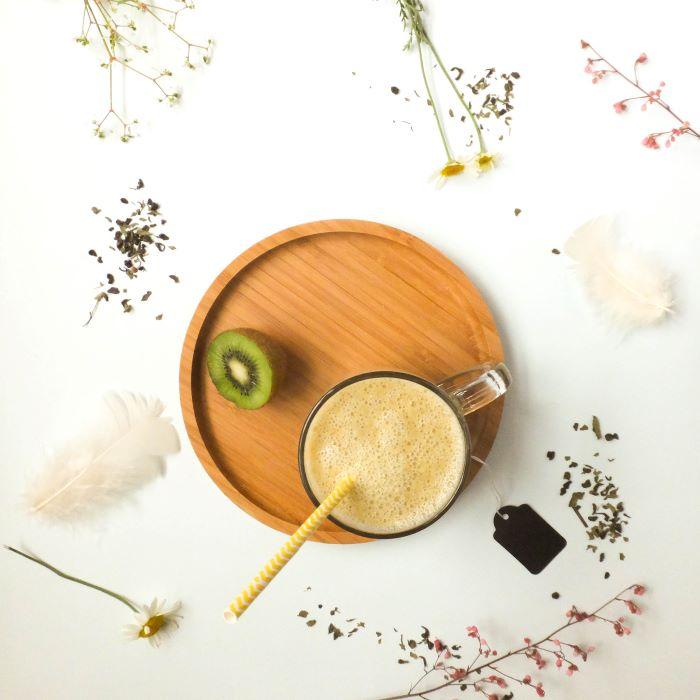 Recette de smoothie-ananas-spiruline <br>