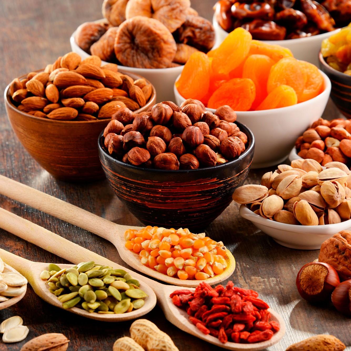 Les bienfaits des fruits séchés et fruits à coque <br>