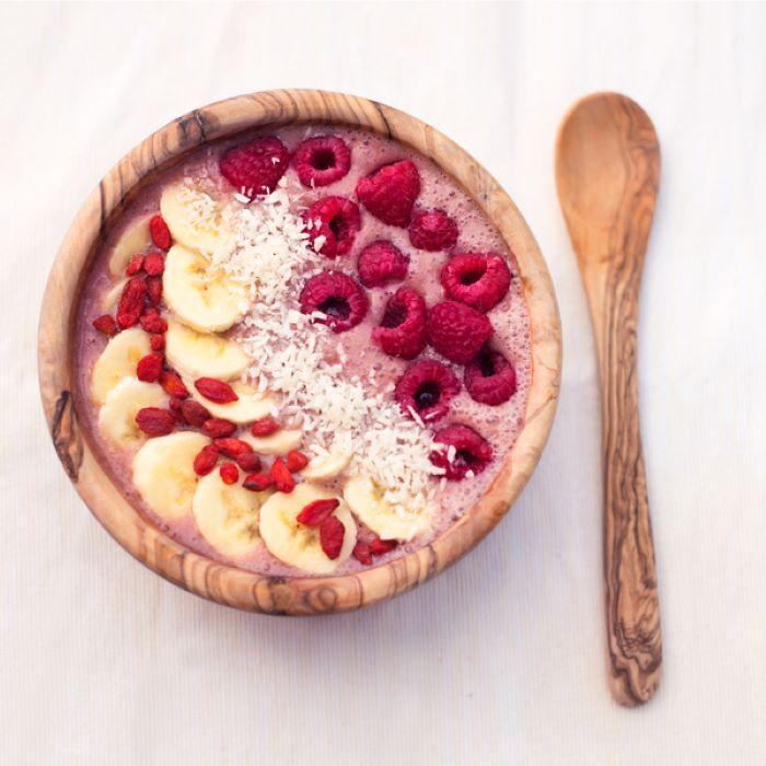 Recette smoothie bowl à la framboise