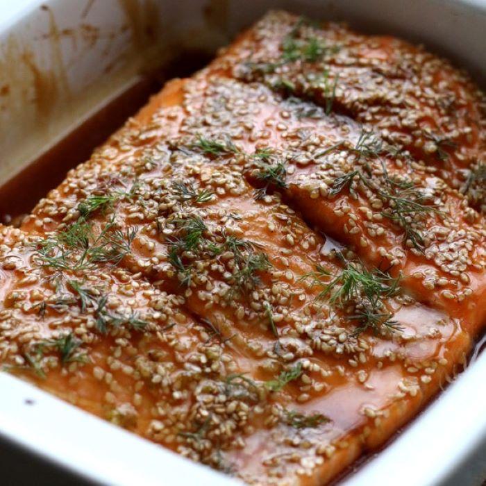 Recette de pavé de saumon au sésame