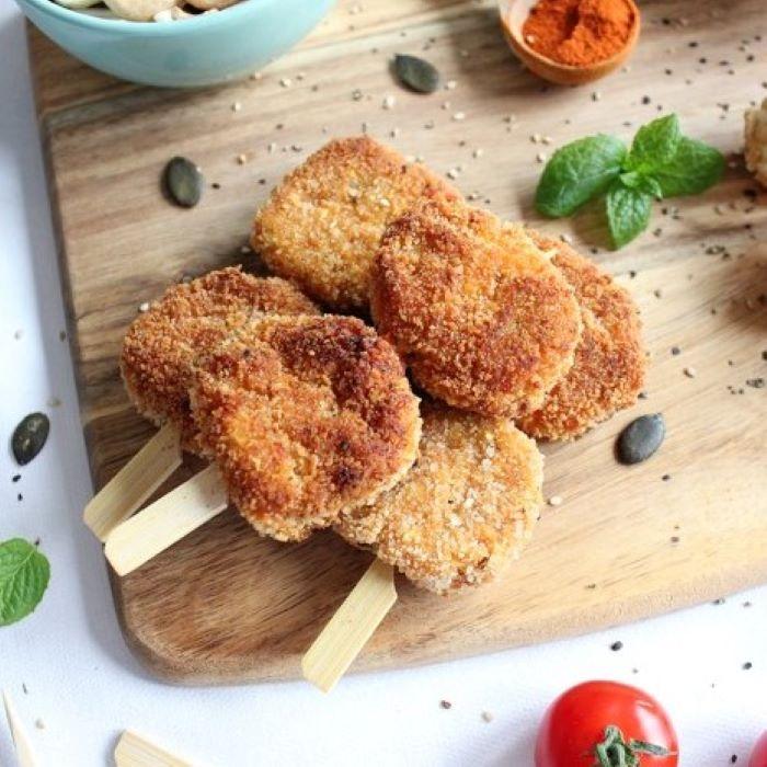 Recette de croquettes de légumes et flocons d\'avoine <br>