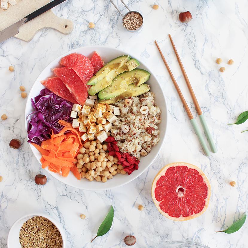Recette de buddha bowl au quinoa <br>
