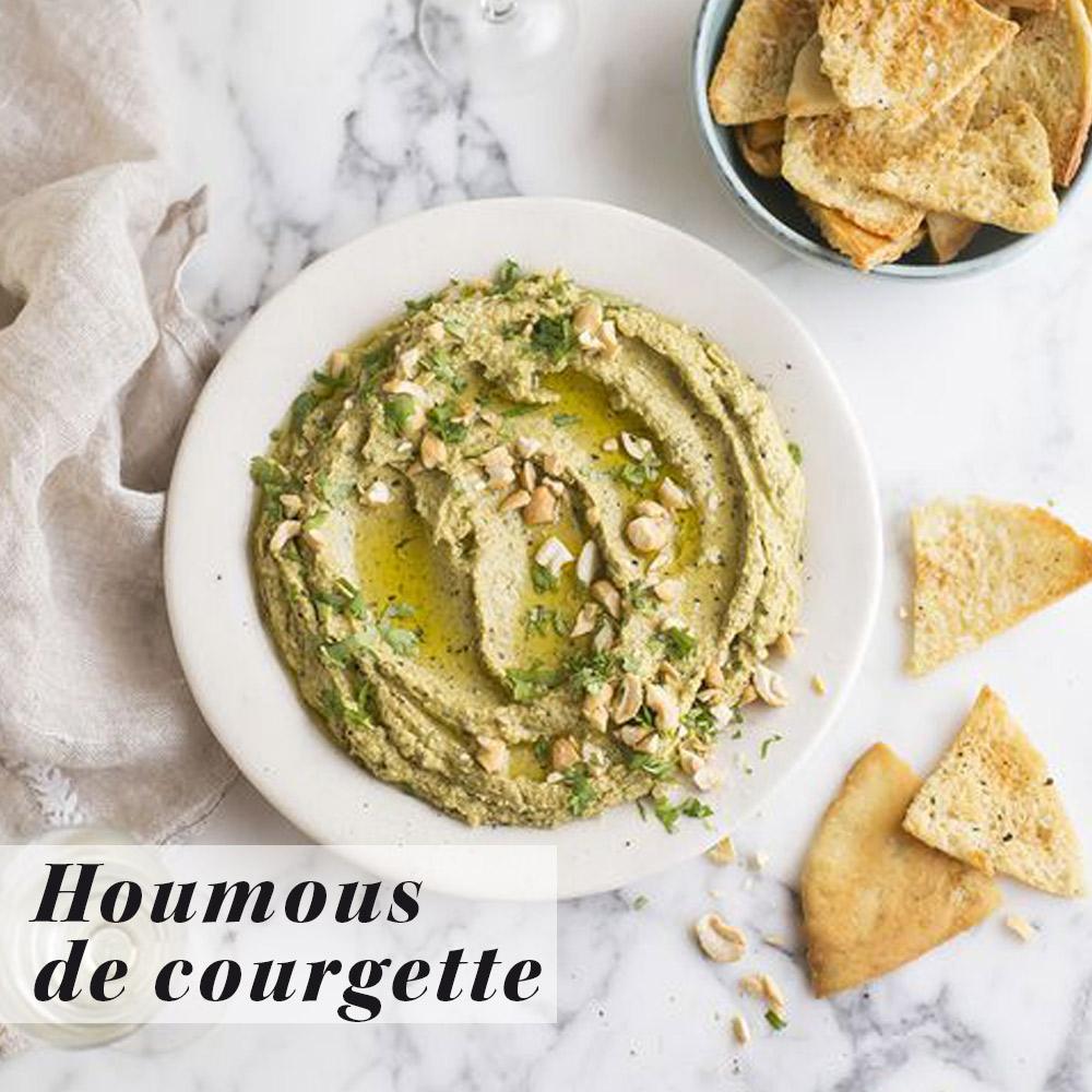 La recette de Houmous de courgette, sésame, graines de lin