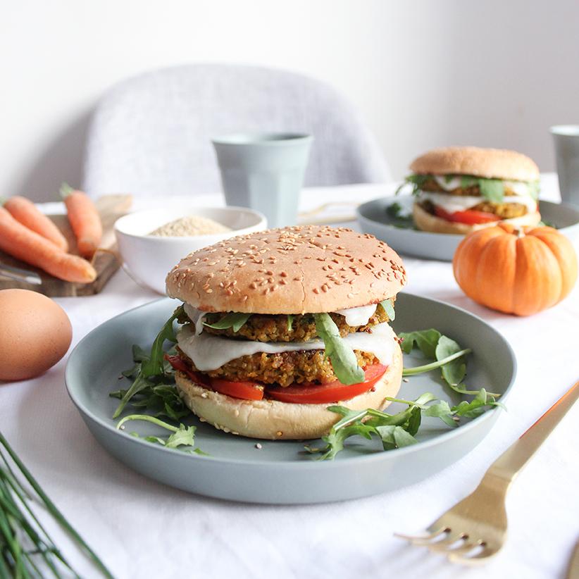 Le savoureux burger végé au quinoa <br>