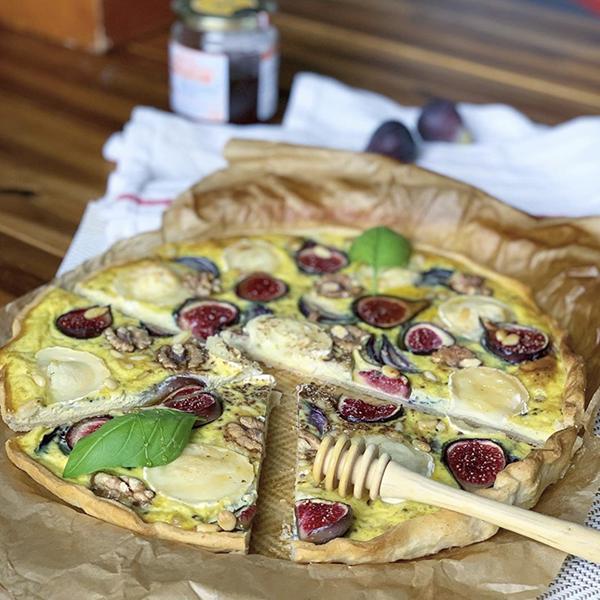 Quiche Figues, Chèvre et Noix de Cook With Miaouss
