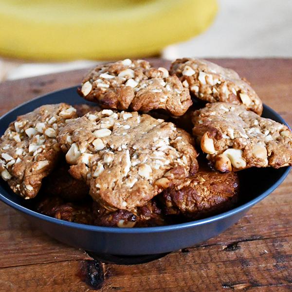 Cookies complets macadamia - chocolat blanc