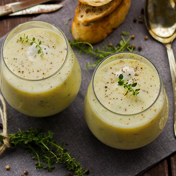 Velouté de chou-fleur et haricots azukis vegan