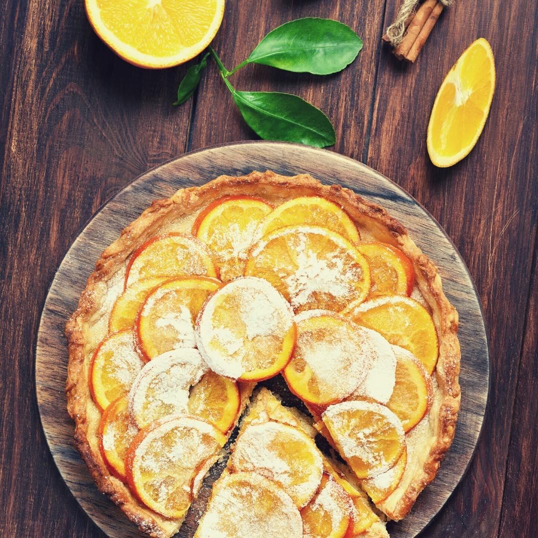 Tarte à l\'orange et à la crème d\'amande