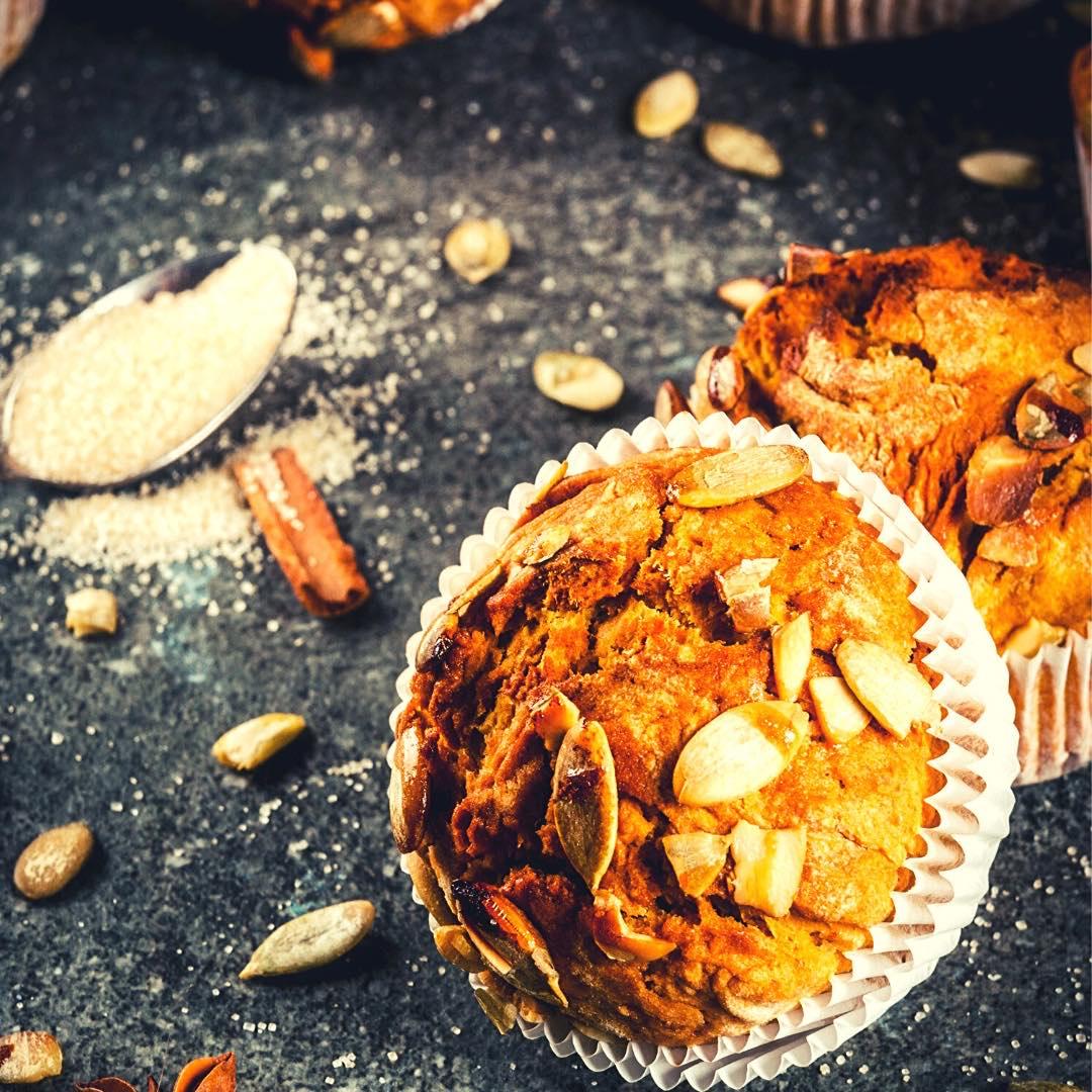 Muffins légers à la courge et aux graines de chia