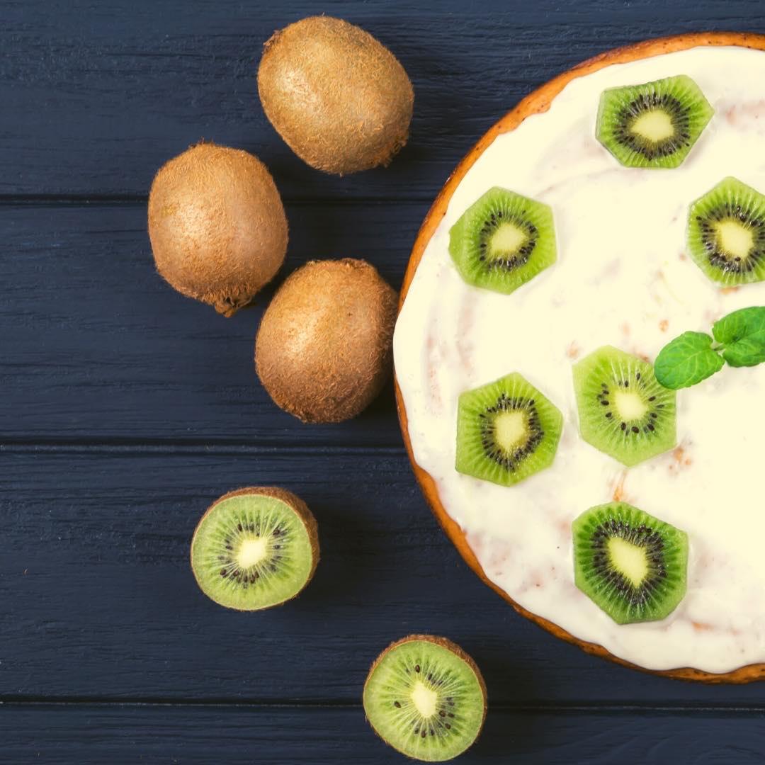 Gâteau amande-kiwi