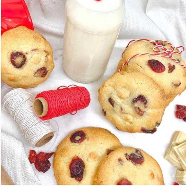 COOKIES chocolat blanc & cranberries de cookies_addict