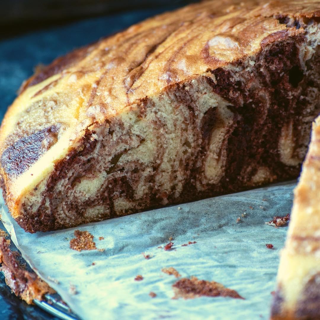Gâteau marbré au chocolat et à l\'amande