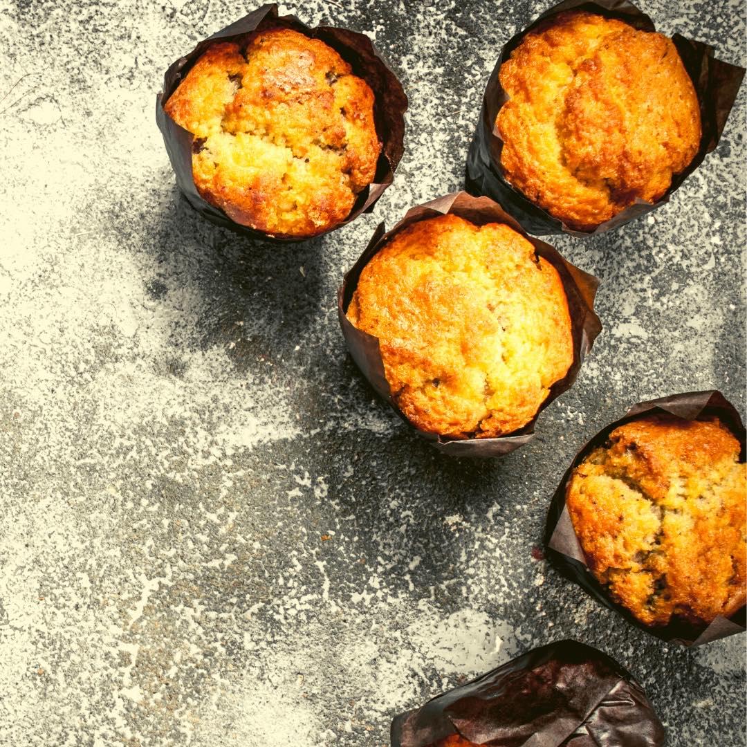 Muffins caramélisés aux amandes et noix de cajou