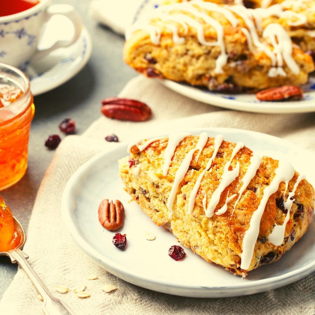 Gâteau aux pommes et noix de Pécan bio