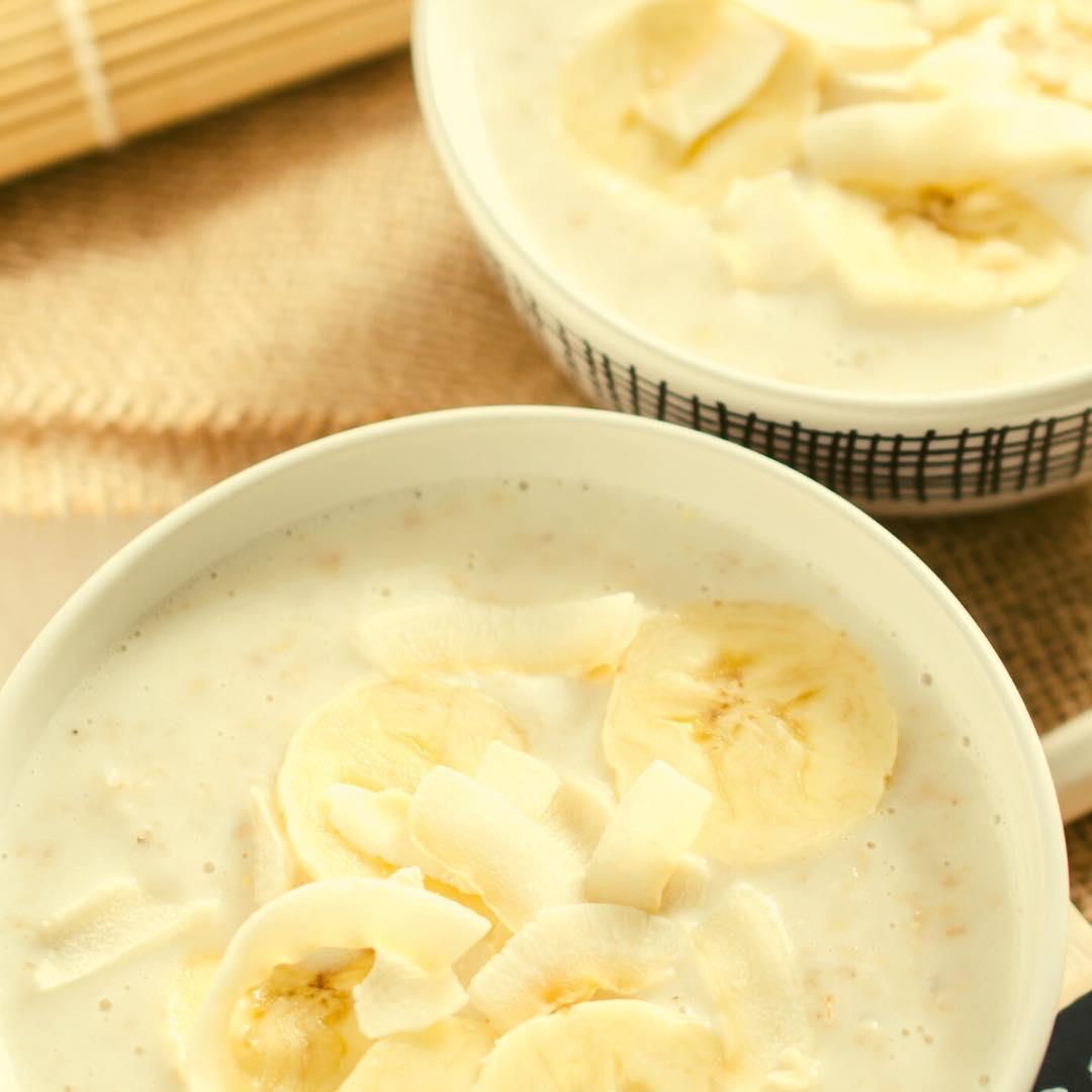 Flan à la banane et à la noix de coco bio