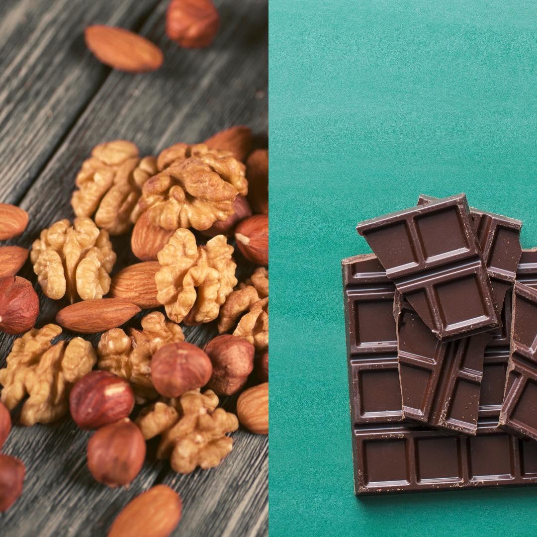 Petits chocolats aux fruits secs bio