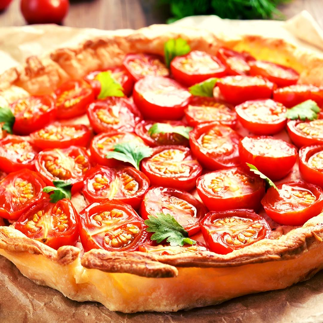 Tatin à la tomate, au gingembre bio et au thym bio