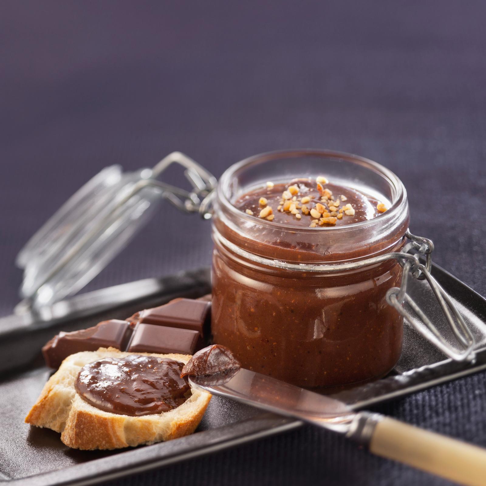 Recette pâte à tartiner chocolat noisette <br>