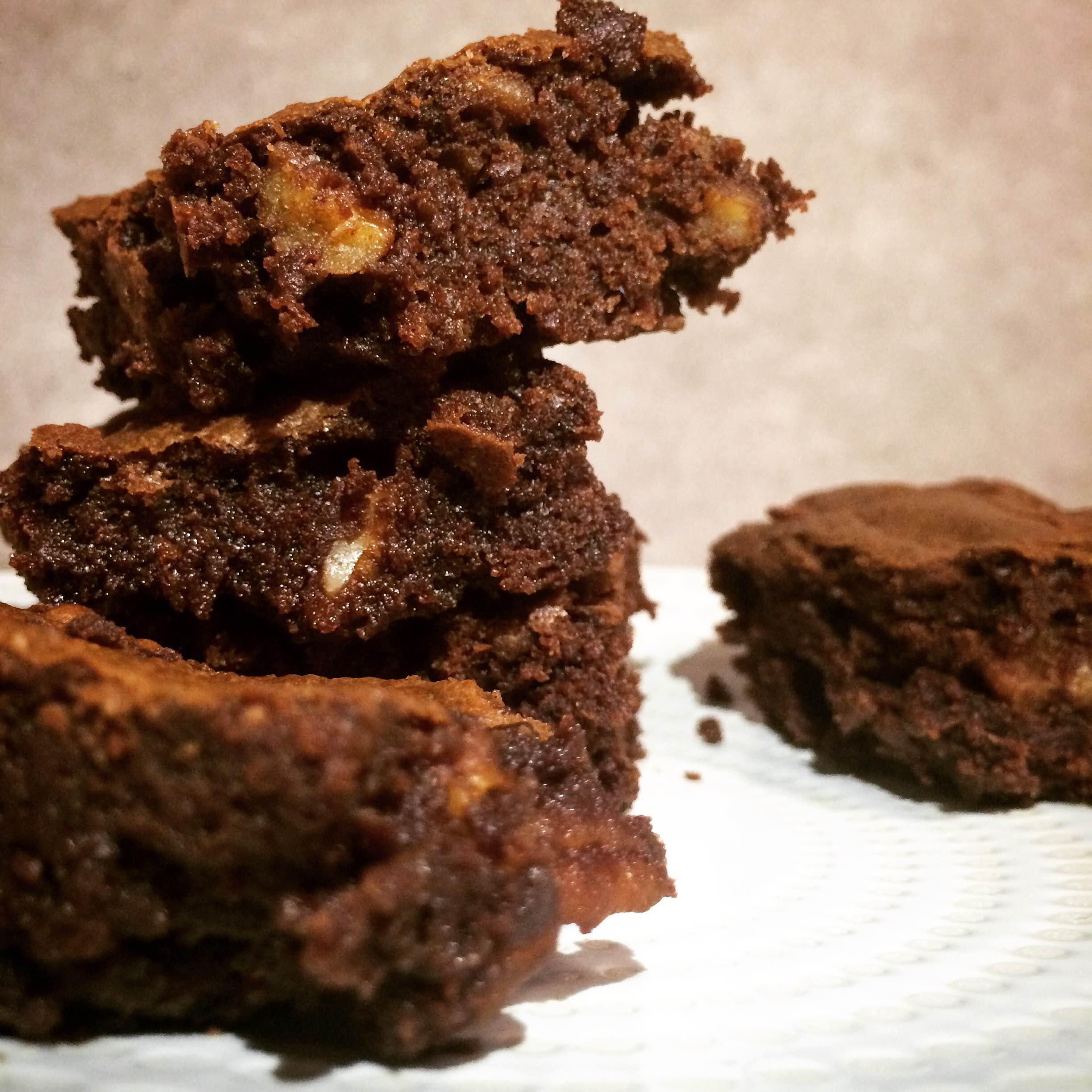 Recette : Brownies au chocolat et aux noix de pécan <br>