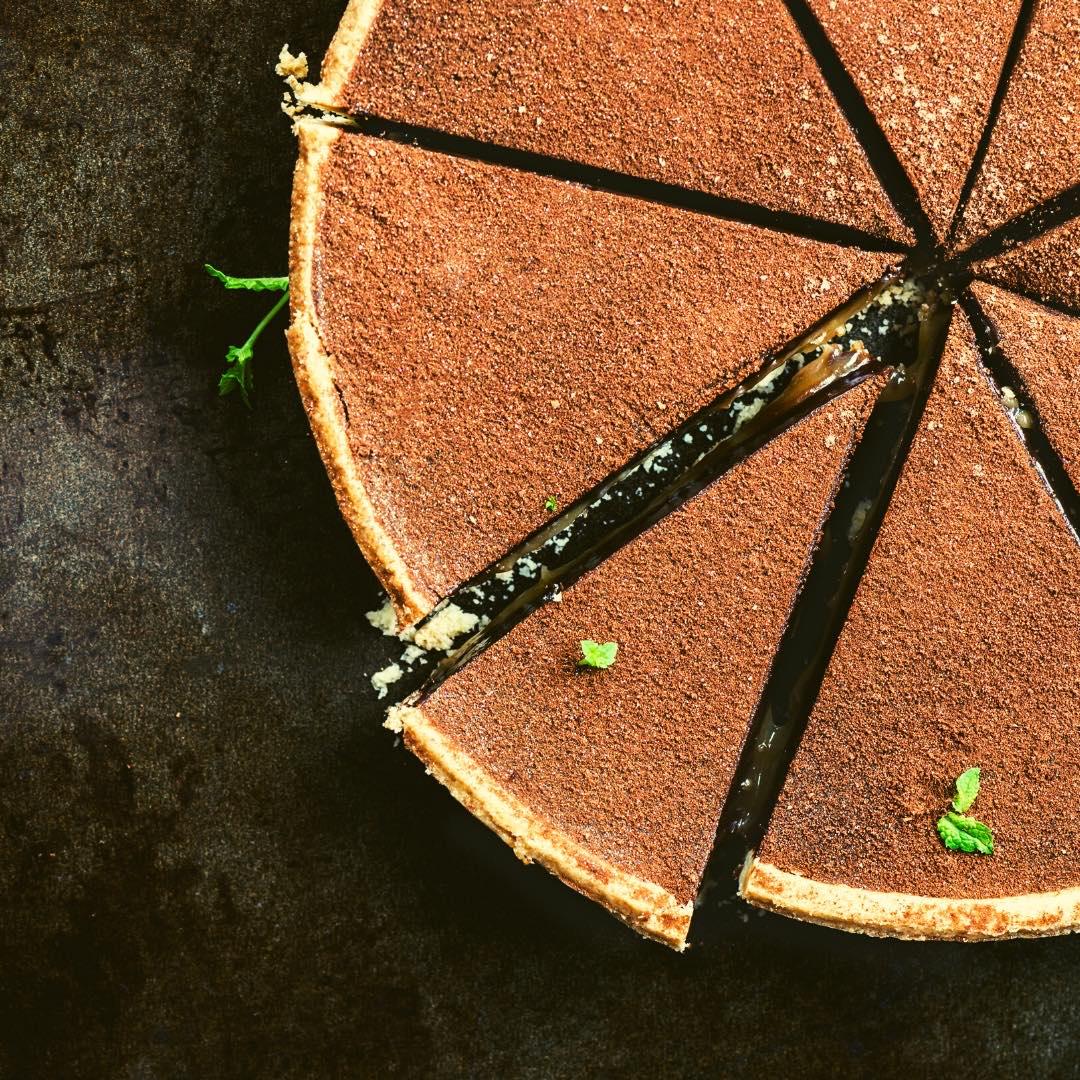 Tarte au chocolat et aux noix bio