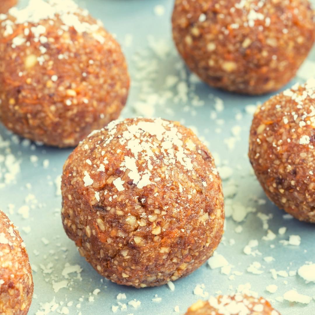 Boules aux noix de cajou bio et caramel végan
