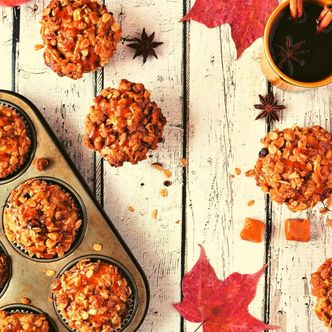 Muffins caramélisés aux amandes et noix de cajou bio