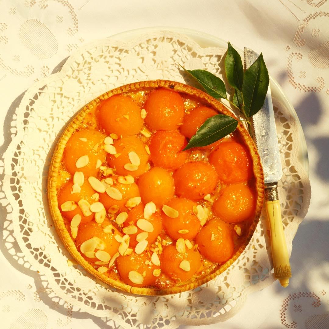 Tarte amandine bio aux abricots