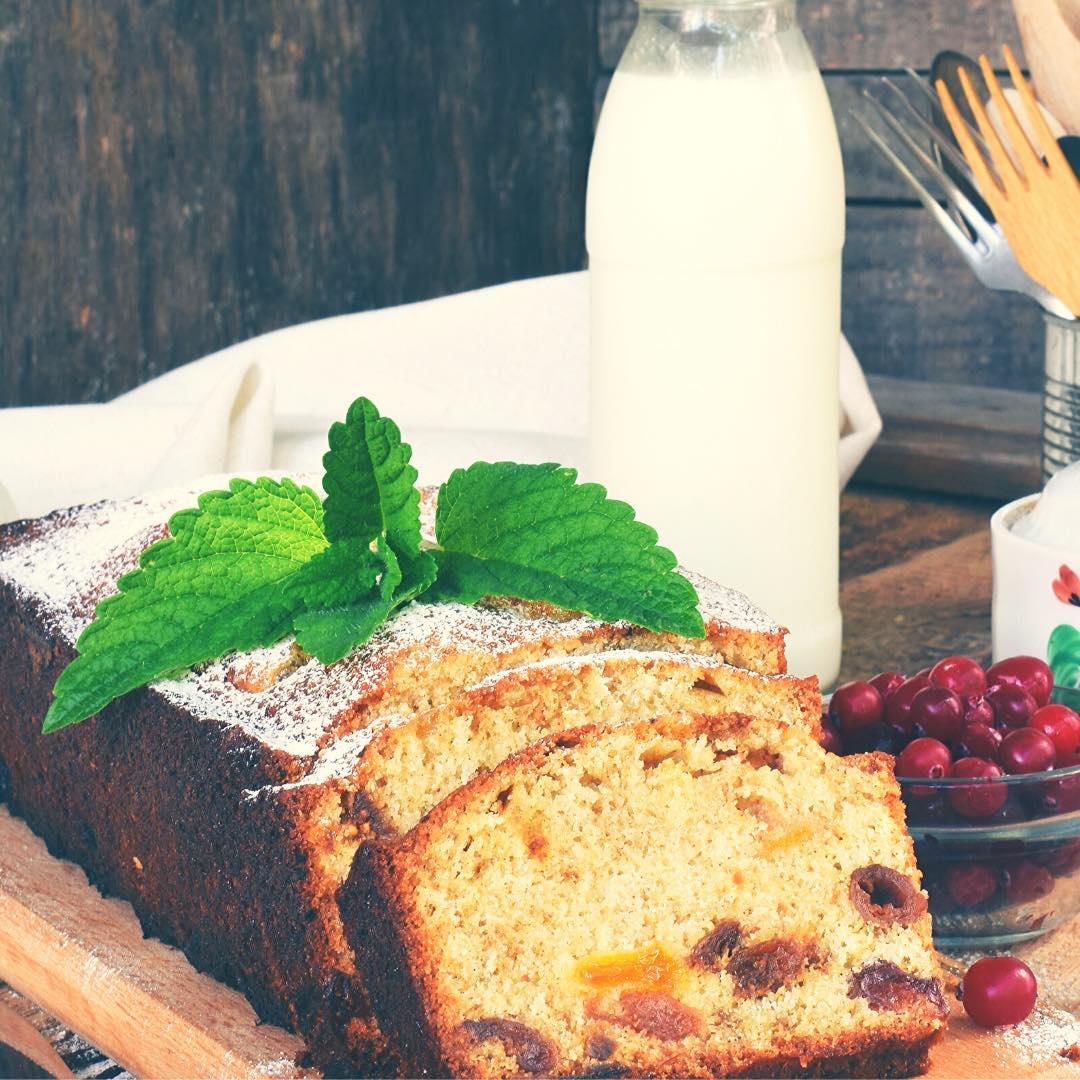 Gâteau sportif aux fruits secs et muesli bio
