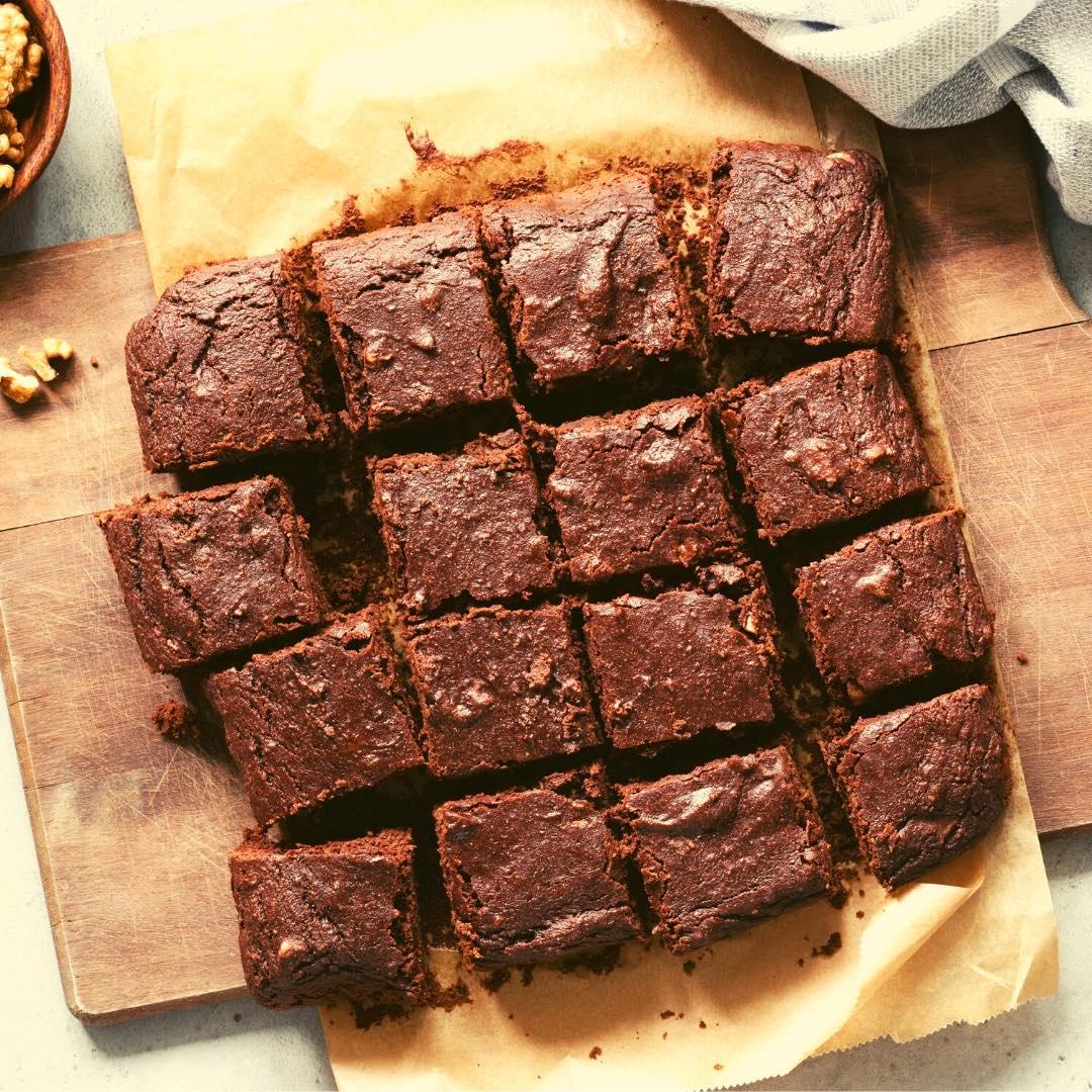 Brownie au chocolat et à la purée de noisettes bio faite maison
