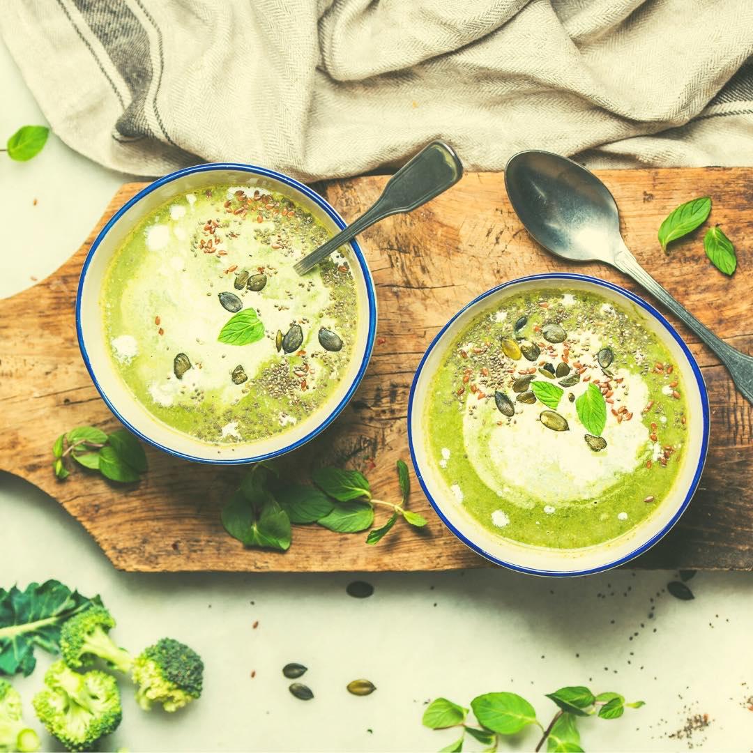 Velouté de cresson et brocolis