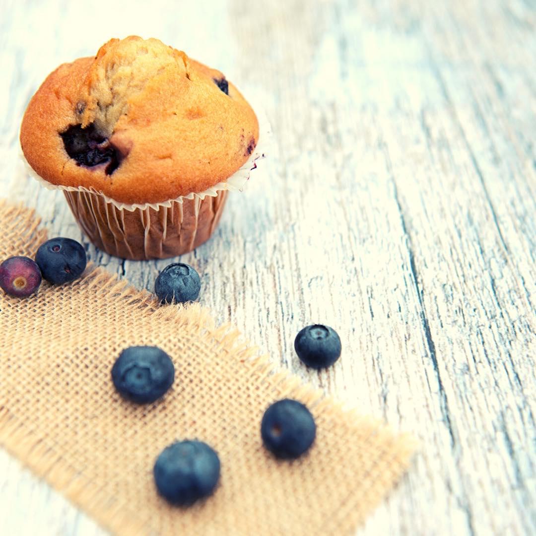 Muffins au citron et aux myrtilles !