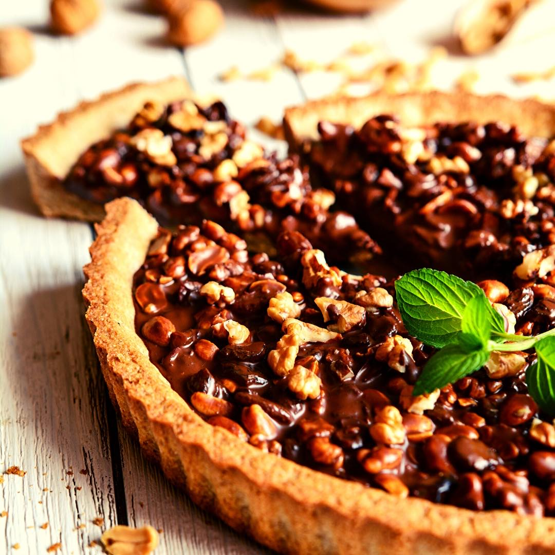 Tarte aux noix bio et miel