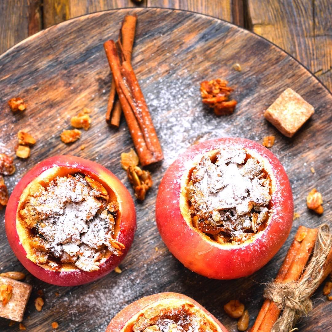 Pommes farcies aux fruits secs bio