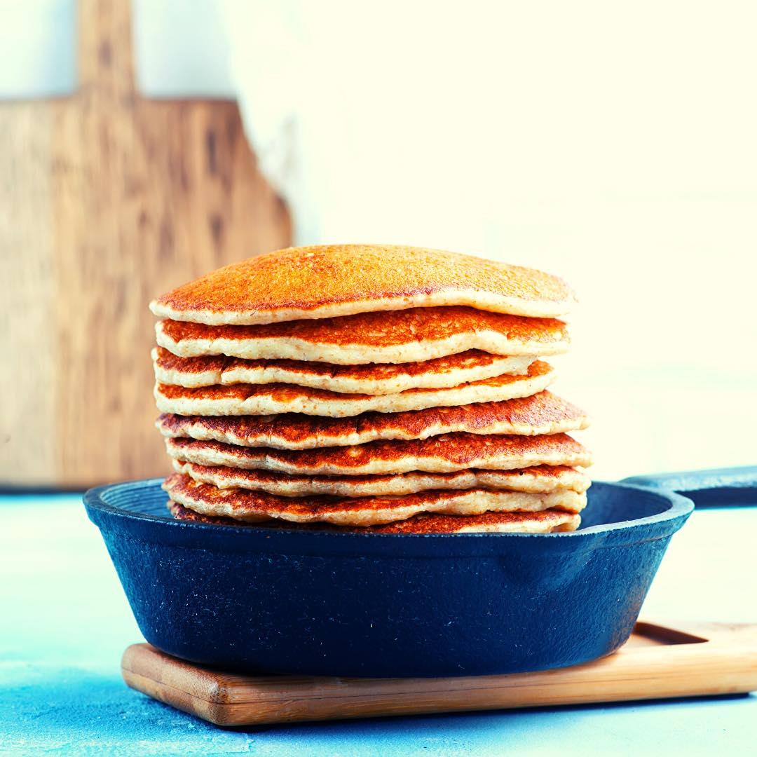 Pancake aux noisettes bio et ricotta