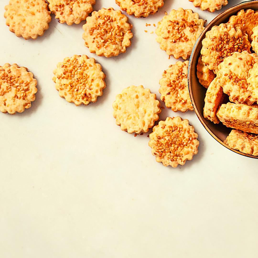 Biscuits apéritifs au sésame bio