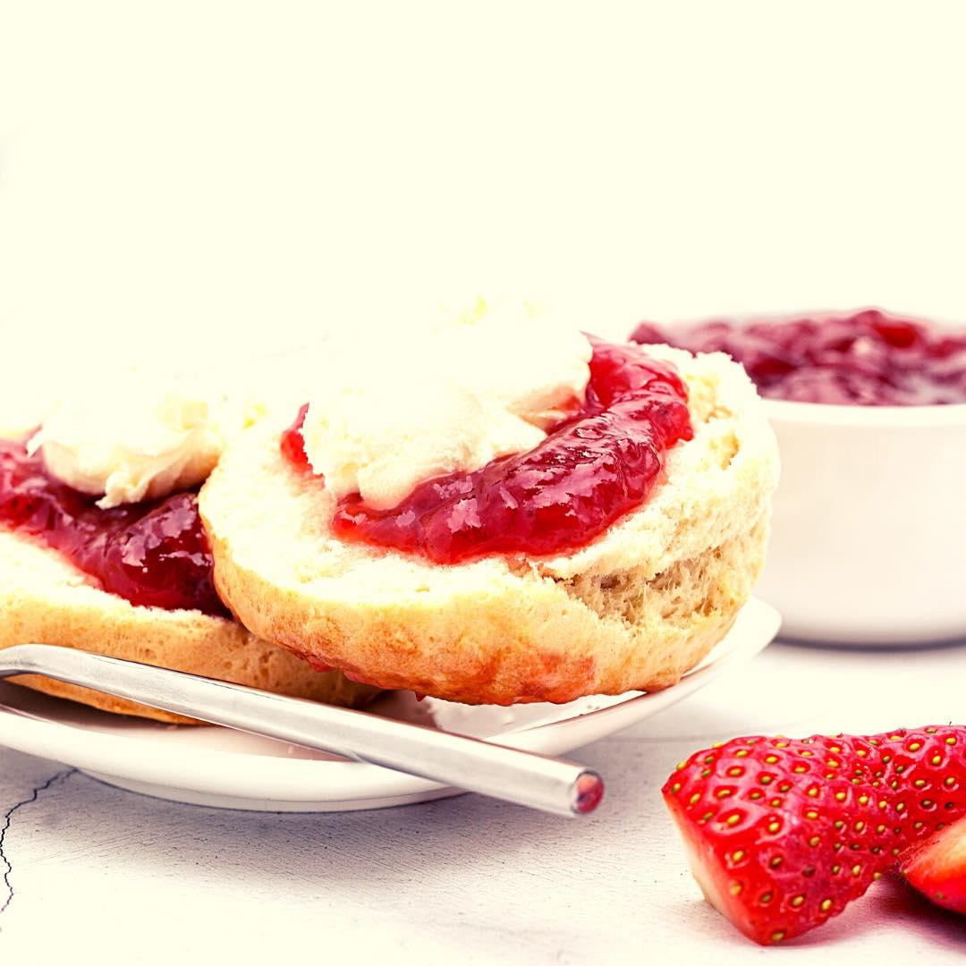 Scones gourmands aux fraises