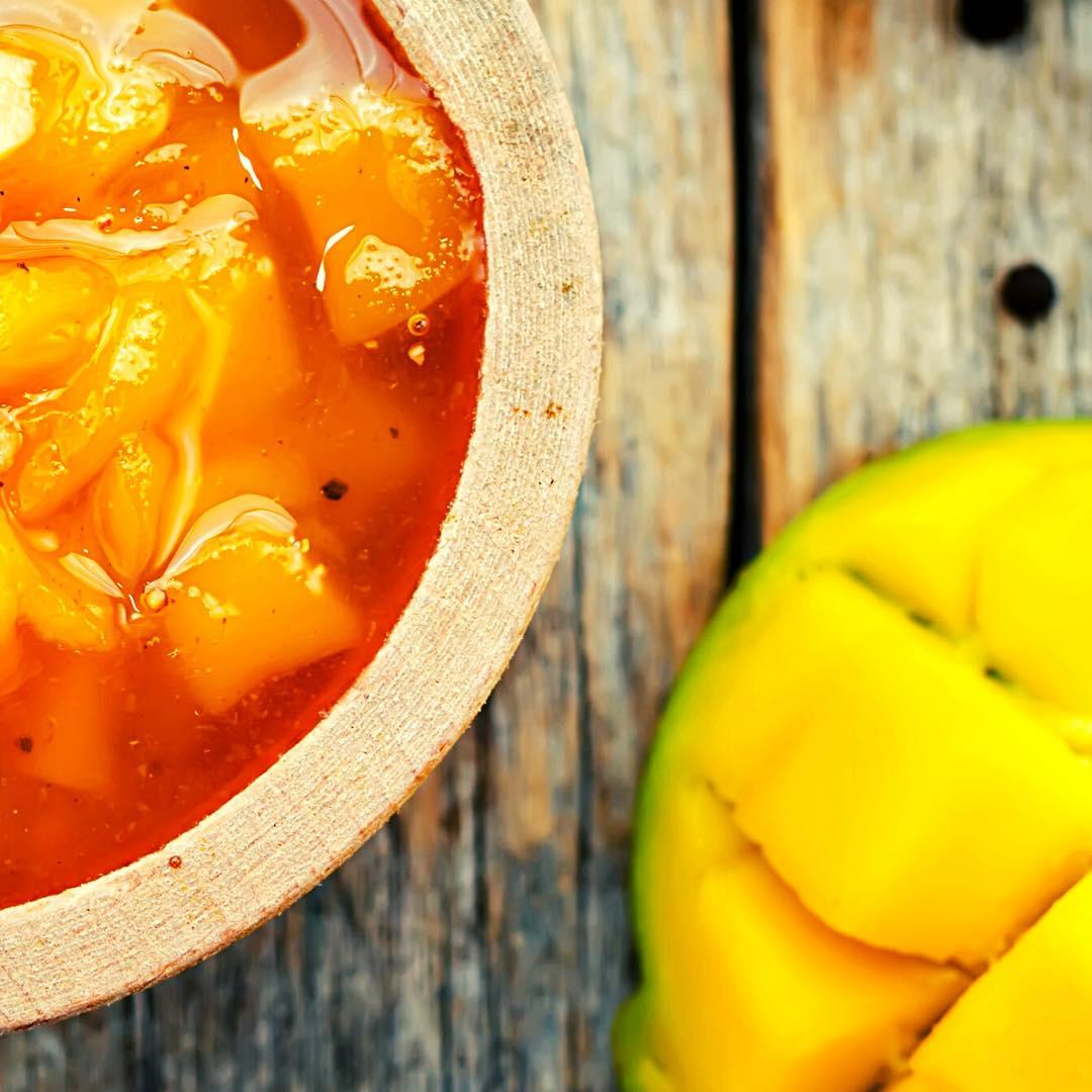 Compote de mangue au gingembre bio